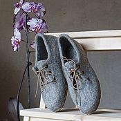 """Обувь ручной работы. Ярмарка Мастеров - ручная работа Валяные туфли для улицы или помещений """"Simple Chic"""". Handmade."""