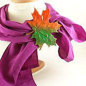 """Украшения ручной работы. Ярмарка Мастеров - ручная работа Зажим для платка""""Осень"""".. Handmade."""
