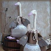 Для дома и интерьера ручной работы. Ярмарка Мастеров - ручная работа ГУСЬ, мешочек-пакетница. Handmade.