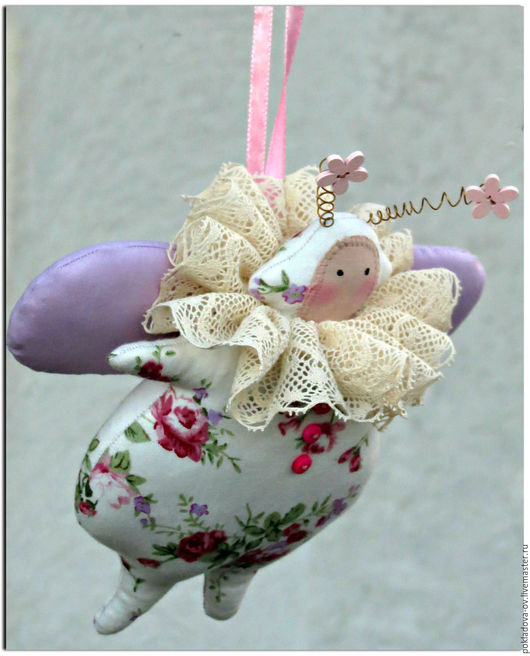 Куклы Тильды ручной работы. Ярмарка Мастеров - ручная работа. Купить Игрушка в стиле Тильда Жук Жужалица. Handmade. Розовый