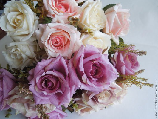Другие виды рукоделия ручной работы. Ярмарка Мастеров - ручная работа. Купить Д/в 75 Розы винтажные 40 см. Handmade.