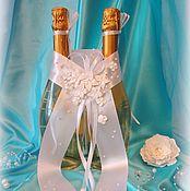 """Свадебный салон ручной работы. Ярмарка Мастеров - ручная работа Лента для свадебных бутылок """"Лебеди"""". Handmade."""