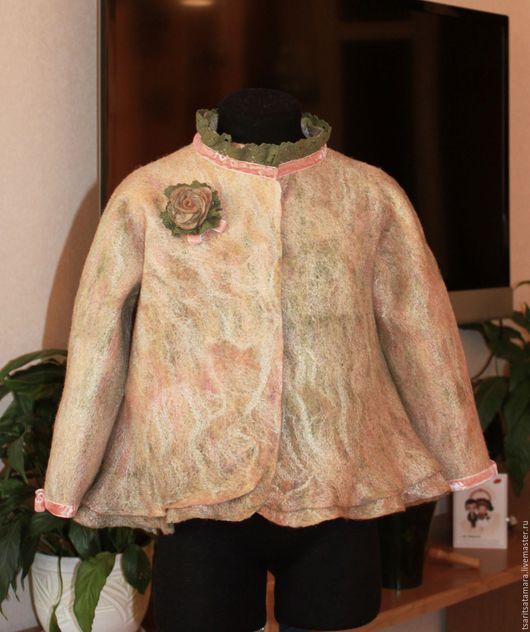 Одежда для девочек, ручной работы. Ярмарка Мастеров - ручная работа. Купить Жакет валяный для девочки в осенних тонах. Handmade. Рыжий