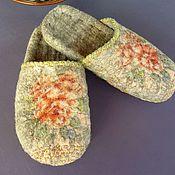 Обувь ручной работы. Ярмарка Мастеров - ручная работа тапочки валяные Как в детстве. Handmade.