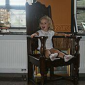 Для дома и интерьера ручной работы. Ярмарка Мастеров - ручная работа Антикварное жесткое кресло из массива дуба. Handmade.