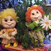 Мягкие игрушки ручной работы. Ярмарка Мастеров - ручная работа куклы ангелочки. Handmade.
