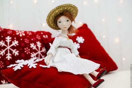 Коллекционные куклы ручной работы. Ярмарка Мастеров - ручная работа. Купить Полина. Handmade. Белый, интерьерная кукла