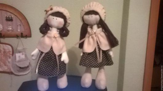 Коллекционные куклы ручной работы. Ярмарка Мастеров - ручная работа. Купить Подружки. Handmade. Бежевый, текстильная кукла, хлопок, халофайбер