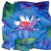Аксессуары handmade. Livemaster - original item Batik Scarf Water Lily. Handmade.