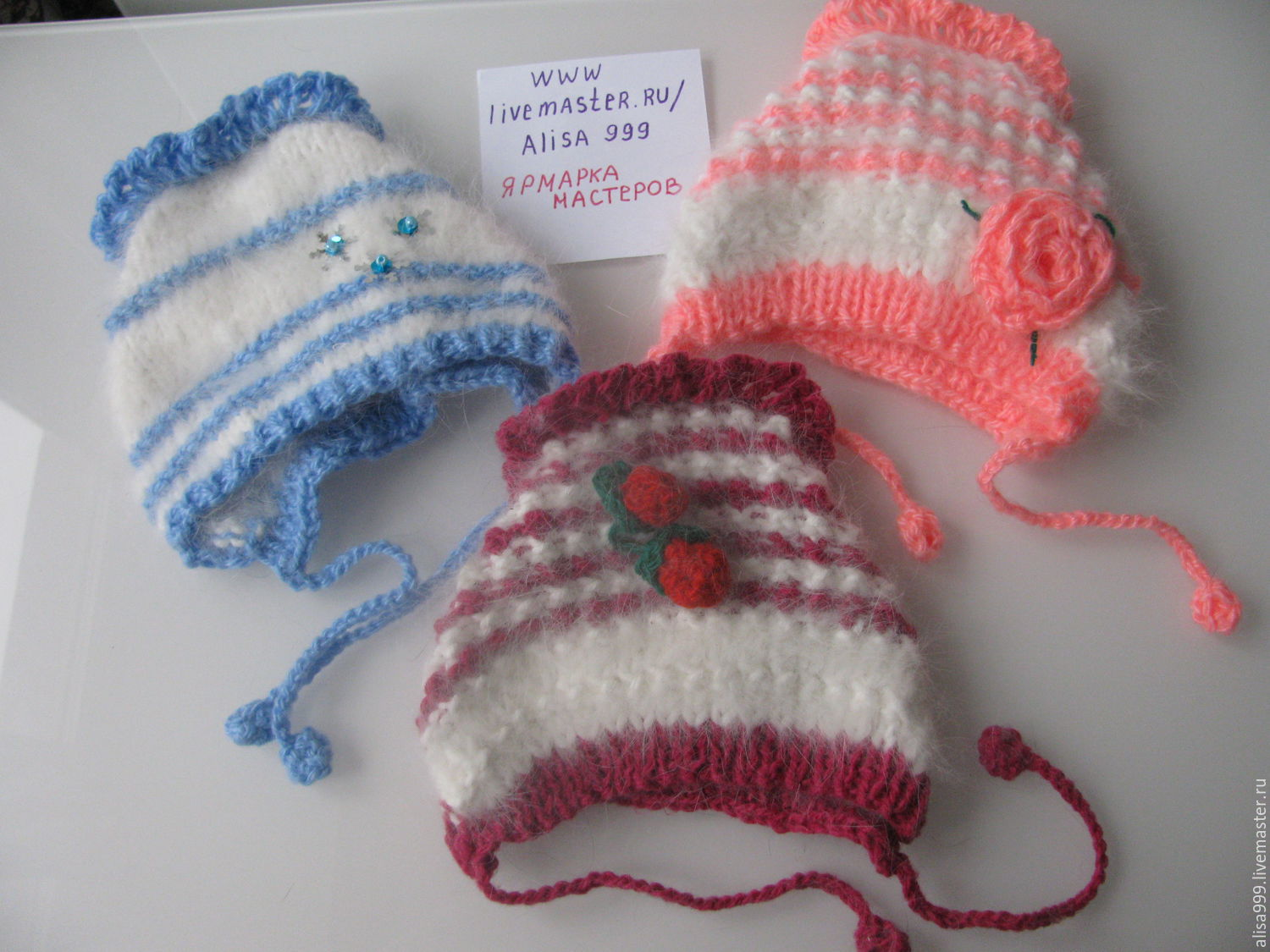 Beanies from the wool of Angora rabbit, Caps, Moscow,  Фото №1