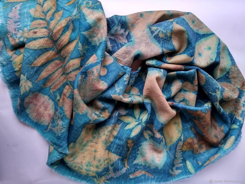 Шерстяной палантин Бирюза или  ткань для  пошива, Палантины, Чернигов,  Фото №1