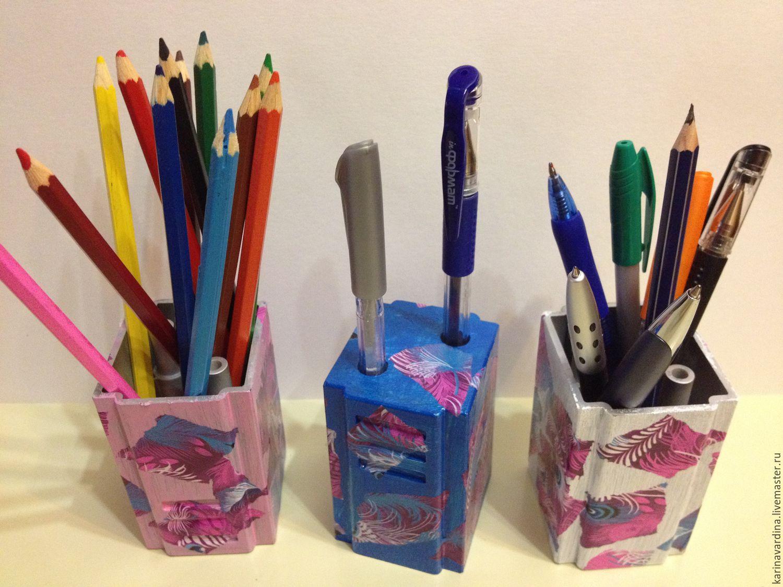 Как сделать подставку для ручек и карандашей своими руками