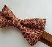 Украшения ручной работы. Ярмарка Мастеров - ручная работа Галстук бабочка коричневый / стильный мужской, хлопок. Handmade.