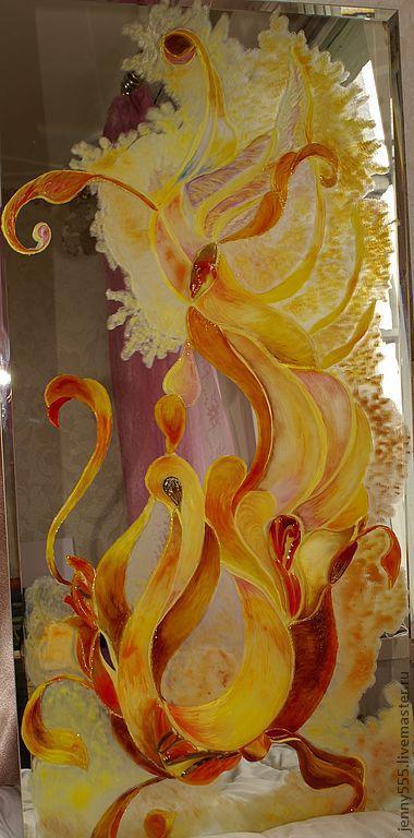 Зеркала ручной работы. Ярмарка Мастеров - ручная работа. Купить зеркало с росписью. Handmade. Эксклюзивный подарок, настенное зеркало