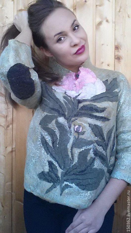 Кофты и свитера ручной работы. Ярмарка Мастеров - ручная работа. Купить валяный пуловер ручной работы ПИОН. Handmade. Свитер