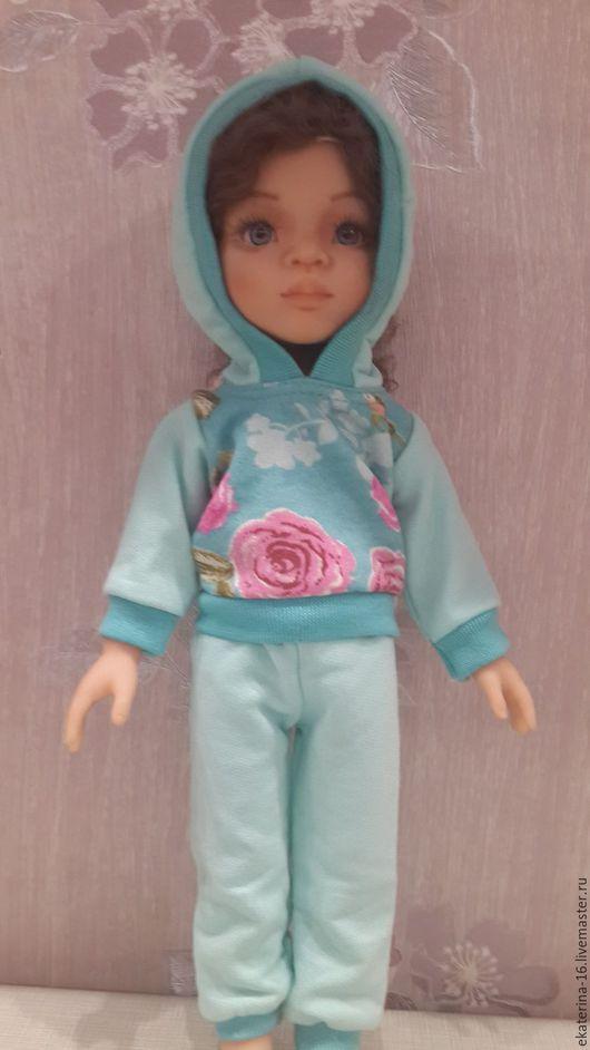 Одежда для кукол ручной работы. Ярмарка Мастеров - ручная работа. Купить спортивные костюмы на кукол Паола Рейна. Handmade. Бирюзовый