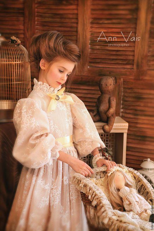 Одежда для девочек, ручной работы. Ярмарка Мастеров - ручная работа. Купить Платье детское для фотосессии Золотые воспоминания. Handmade. Золотой