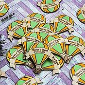 """Подарки ручной работы. Ярмарка Мастеров - ручная работа Свадебные деревянные магнитики """"Цветной воздушный шар"""". Handmade."""