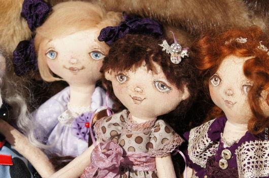"""Куклы тыквоголовки ручной работы. Ярмарка Мастеров - ручная работа. Купить Текстильная кукла """"Кирочка"""". Handmade. Бежевый, тыквоголовки, подарок"""