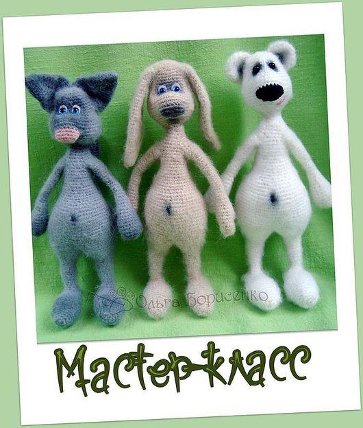 Вязание ручной работы. Ярмарка Мастеров - ручная работа. Купить Мастер-класс Заяц+Кот+Медведь (описание вязания). Handmade. Вязаная игрушка