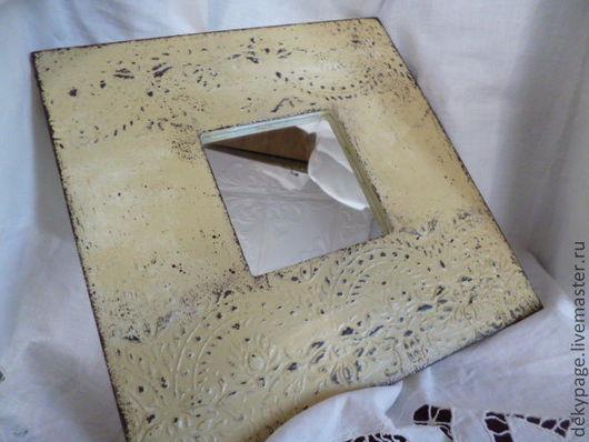 """Зеркала ручной работы. Ярмарка Мастеров - ручная работа. Купить Зеркало """"Винтаж"""". Handmade. Бежевый, зеркало настенное, подарок девушке"""