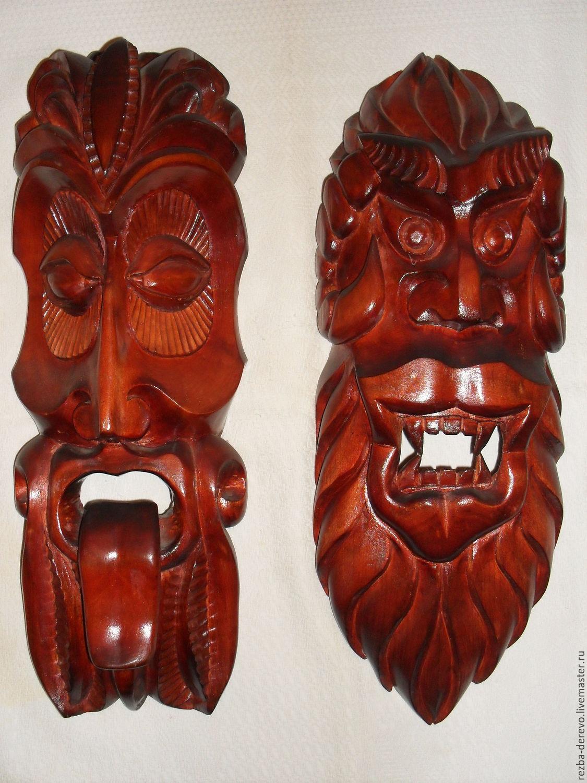 Деревянная маска на стену своими руками