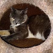 handmade. Livemaster - original item Felted cat house cat house. Handmade.