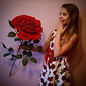 Для дома и интерьера ручной работы. Ярмарка Мастеров - ручная работа Огромная роза на стебле. Handmade.