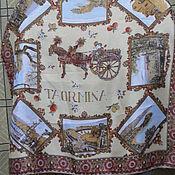 Винтаж handmade. Livemaster - original item The handkerchief with the plot,acetate,vintage Europe. Handmade.