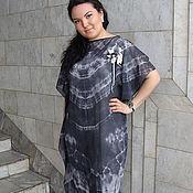 Одежда ручной работы. Ярмарка Мастеров - ручная работа платье батик шибори. Handmade.