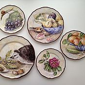 Посуда handmade. Livemaster - original item Painted porcelain. Plates on the wall. Handmade.
