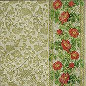 Материалы для творчества handmade. Livemaster - original item 8pcs napkins for decoupage gold openwork floral border. Handmade.