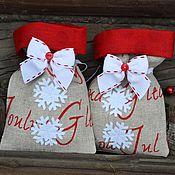 Подарки к праздникам ручной работы. Ярмарка Мастеров - ручная работа Мешочки новогодние для подарков, новогодняя упаковка. Handmade.