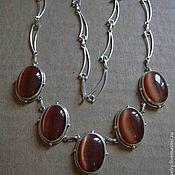 Украшения handmade. Livemaster - original item Elegant necklace CAT`s EYE,silver. Handmade.