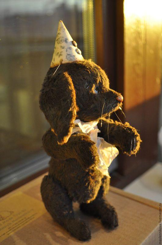 Мишки Тедди ручной работы. Ярмарка Мастеров - ручная работа. Купить Заяц Роджер (16,5см). Handmade. Темно-серый