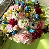 Цветы и флористика ручной работы. Ярмарка Мастеров - ручная работа Букет из полимерной глины. Handmade.