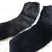 Мех ручной работы. Ярмарка Мастеров - ручная работа Шкурки ( воротники ) мутон черного цвета. Handmade.
