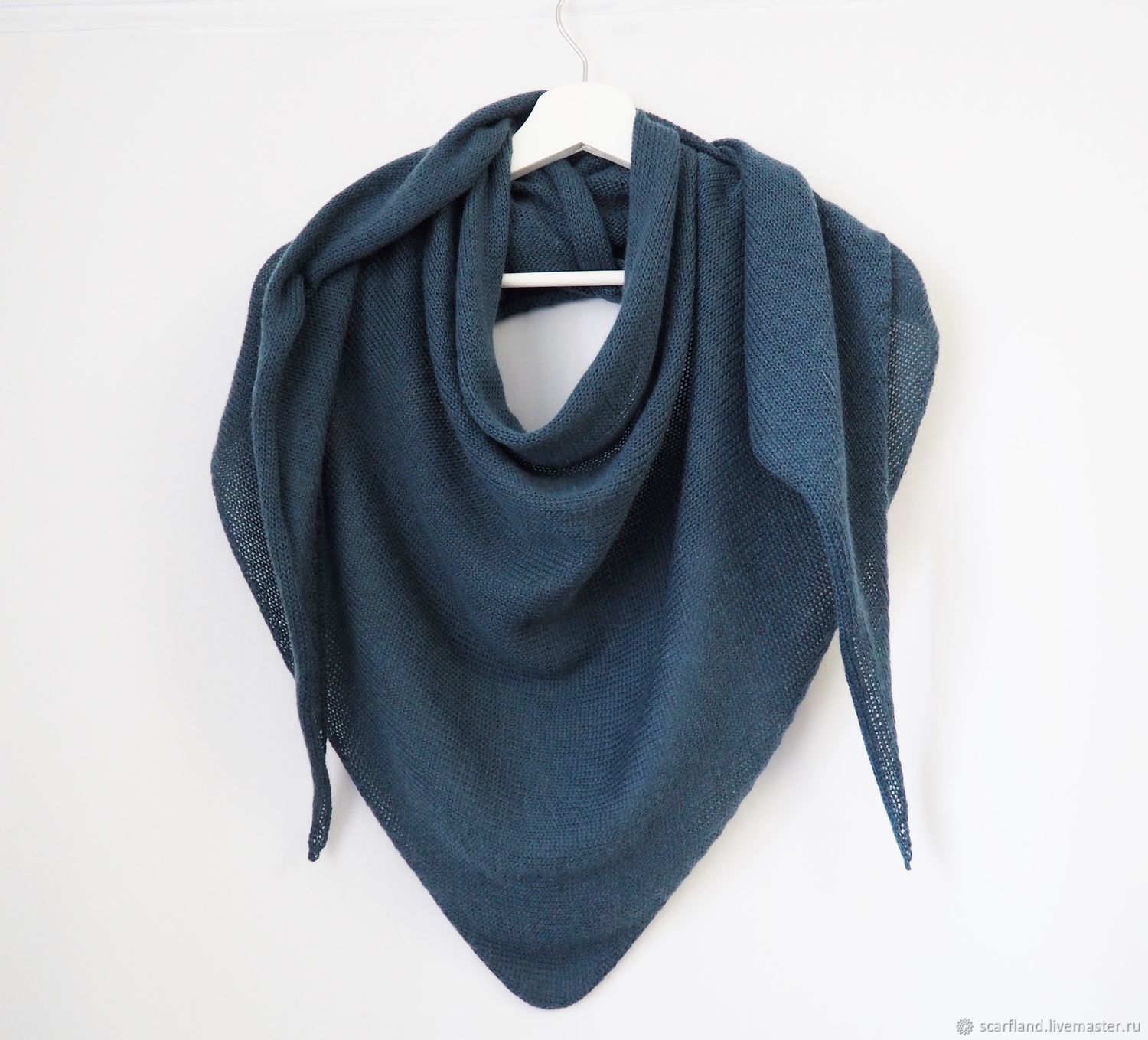scarves: Scarf knitted from kid mohair with cashmere, Kerchiefs, Cheboksary,  Фото №1