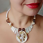 Украшения handmade. Livemaster - original item Necklace of sea foam. the Topaz mother of pearl. Handmade.
