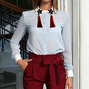 Одежда ручной работы. Ярмарка Мастеров - ручная работа Блуза с кисточками. Handmade.