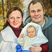Картины и панно handmade. Livemaster - original item Family portrait oil on canvas.. Handmade.