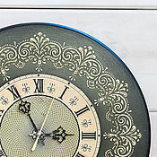 Для дома и интерьера handmade. Livemaster - original item Clock wooden decoupage