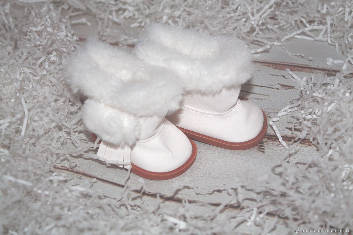 shoes for dolls. BOOTS 7,5 cm, Materials for creativity, Kaluga, Фото №1