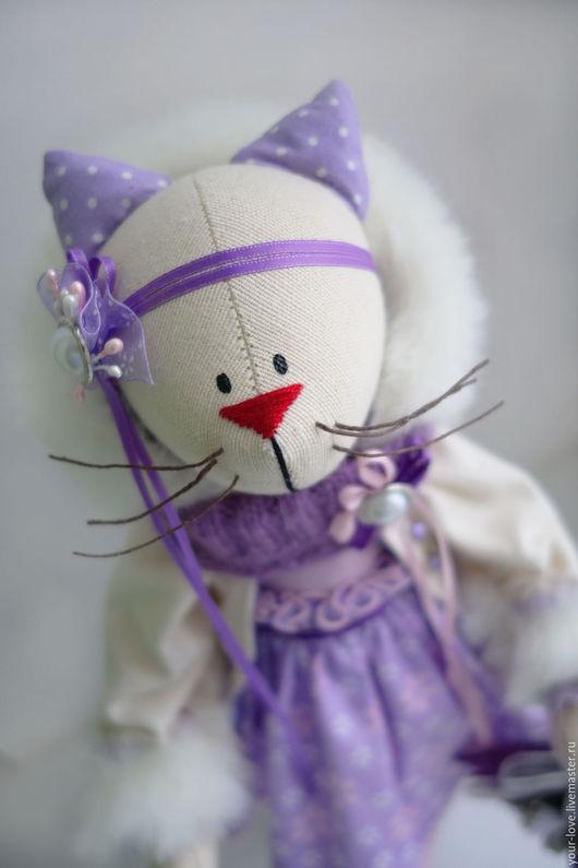 """Куклы Тильды ручной работы. Ярмарка Мастеров - ручная работа. Купить Кошка шебби """"Лавандовый новый год"""". Handmade. Тильда"""