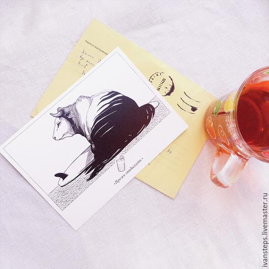 """Открытки на все случаи жизни ручной работы. Ярмарка Мастеров - ручная работа. Купить открытка """"время отдыха"""". Handmade. Открытка, открытки"""