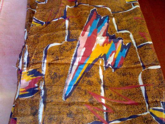 Шитье ручной работы. Ярмарка Мастеров - ручная работа. Купить Винтажный плотный ситец. Handmade. Винтажная ткань, хлопчатобумажная ткань