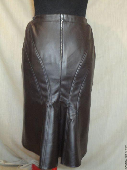 Кожанная юбка Русалка