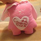 Куклы и игрушки ручной работы. Ярмарка Мастеров - ручная работа Игрушка подушка зайка. Handmade.