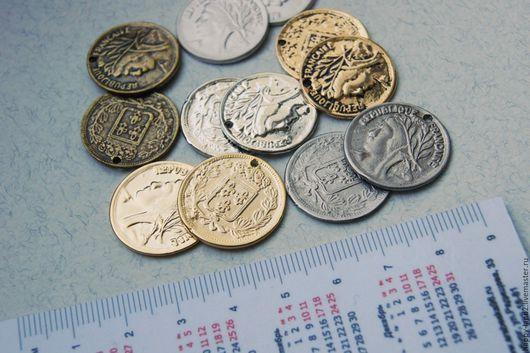 Для украшений ручной работы. Ярмарка Мастеров - ручная работа. Купить Монета декоративная 20 мм, двусторонняя, Южная Корея. Handmade.
