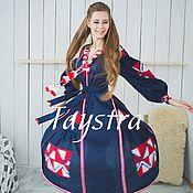 Одежда ручной работы. Ярмарка Мастеров - ручная работа Платье женское 4 клина, вышитое, бохо, этно стиль, Bohemia. Handmade.
